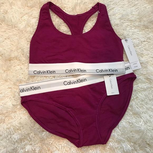 98c9a1cc3a529 Calvin Klein Bralette   Bikini Set NWT
